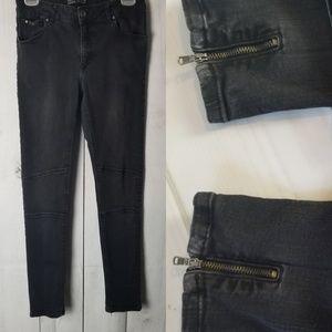 Z1975 Moto Jeans w/ Bottom Slit Zippers